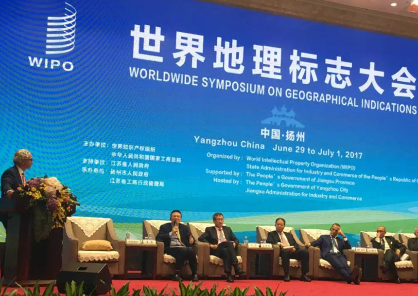 WAN HUI DA Speaks at WIPO GI Symposium in Yangzhou